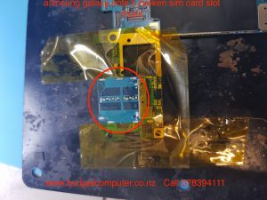 samsung galaxy note 5 broken sim card slot repair