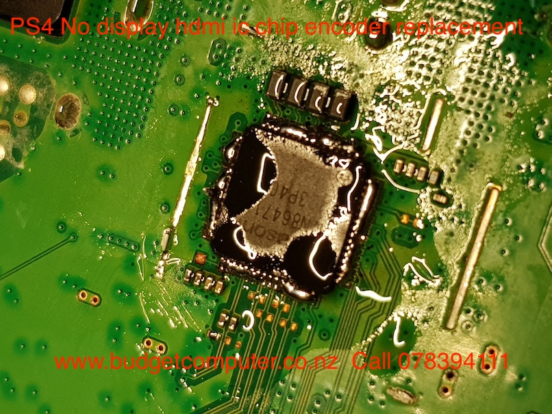 ps4 no display hdmi ic chip encoder replacement | Budget