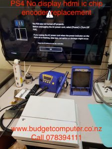 ps4 no display hdmi ic chip encoder replacement